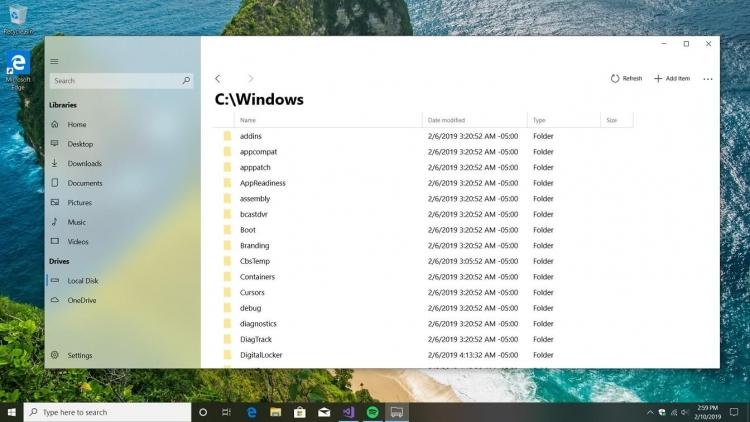 """Сторонний разработчик показал современный файловый менеджер для Windows 10"""""""