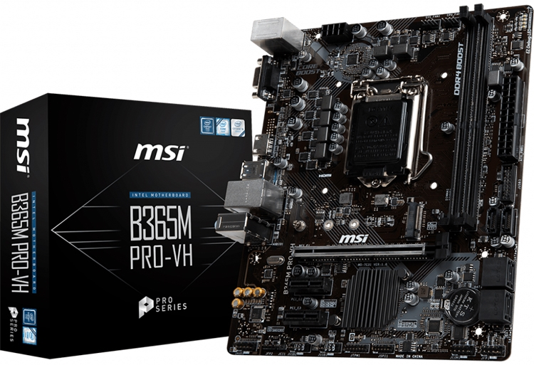 Дуэт материнских плат MSI B365M PRO для процессоров Intel Coffee Lake""