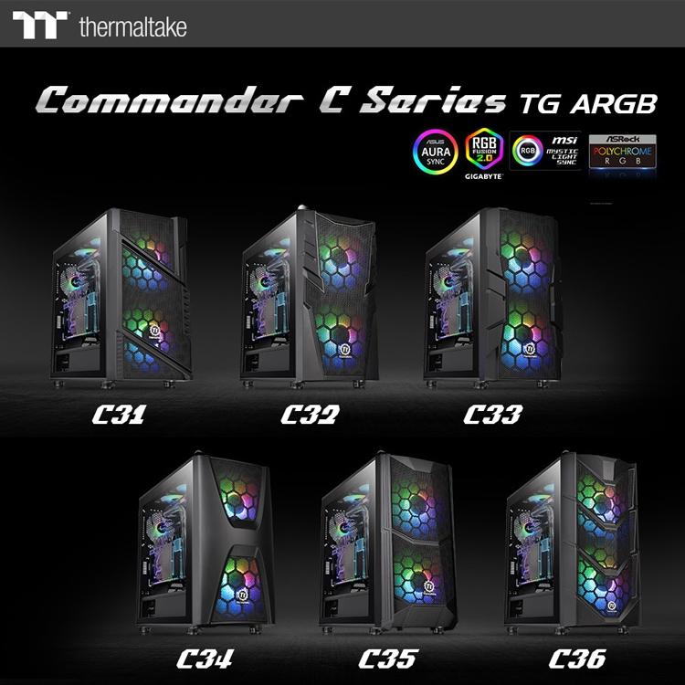 """В серию Thermaltake Commander C TG ARGB вошли шесть ПК-корпусов"""""""