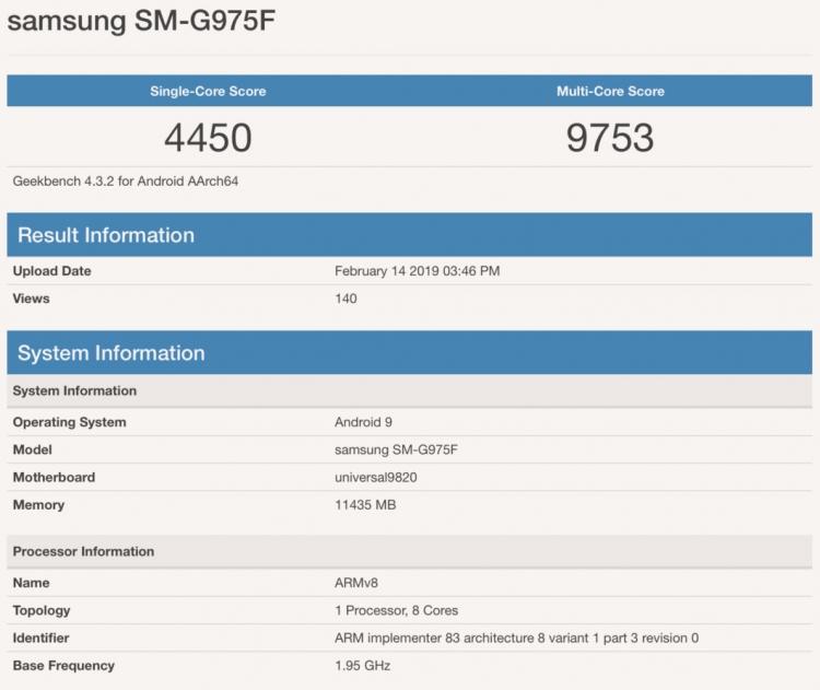 """Galaxy S10+: оценки в Antutu и GeekBench, а также рендеры белой керамической версии"""""""
