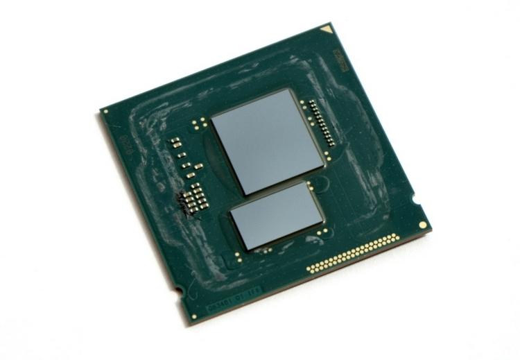 Intel Core i7-5775C. Меньший кристалл является памятью eDRAM