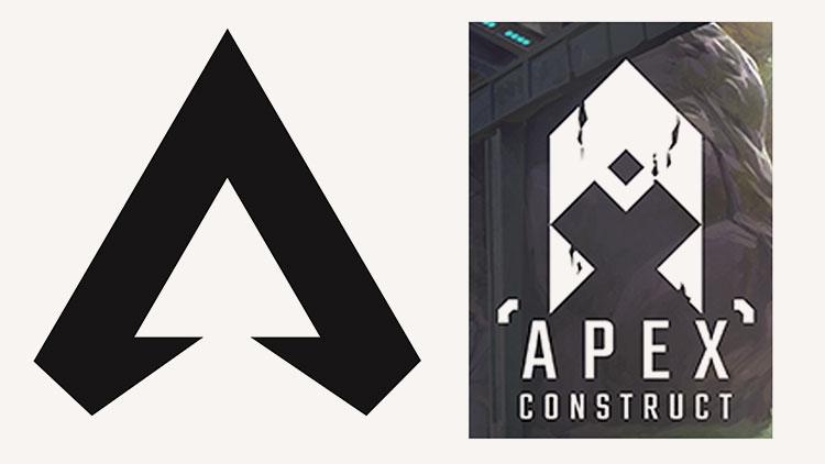 Логотип Apex Legends слева и Apex Construct справа