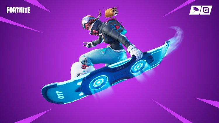 at the same time epic games added a temporary adrenaline mode in which two teams of 32 players face each other get flying snowboarding and red cargo - fortnite ride it
