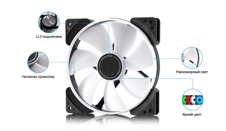 """Fractal Design Prisma: вентиляторы диаметром 120 мм и 140 мм с подсветкой"""""""