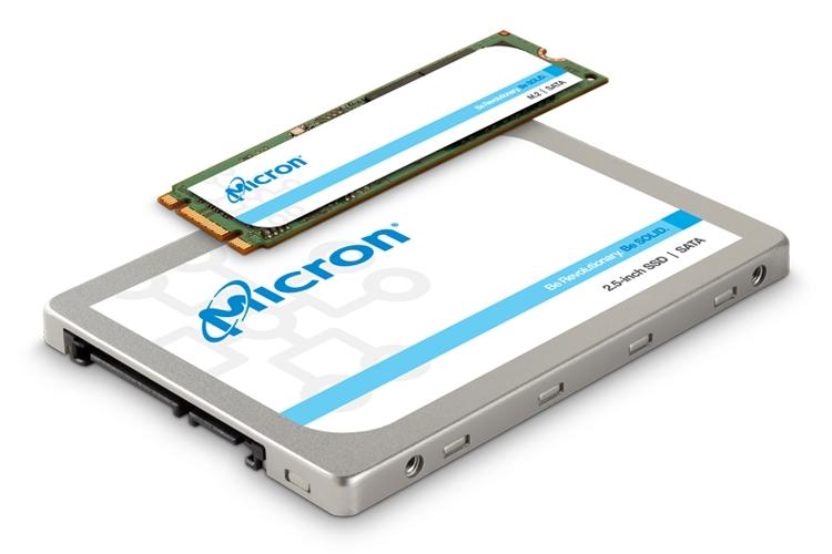 """В семейство накопителей Micron 1300 SSD вошли модели в форматах M.2 и 2,5 дюйма"""""""