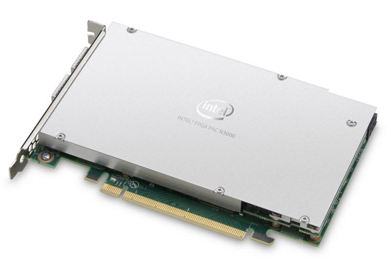 На стенде Intel ускоритель FPGA PAC N3000 обнаружен не был