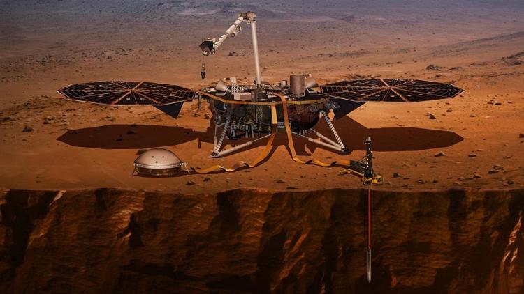 """Инструмент зонда InSight начал углубляться в марсианский грунт"""""""