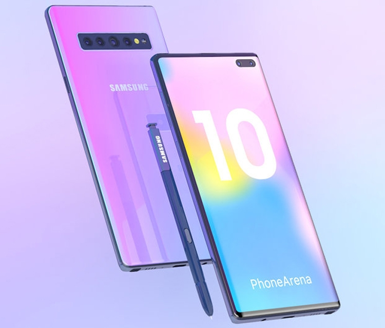 Samsung Galaxy Note 10 на концепт-рендерах: каким будет облик нового фаблета