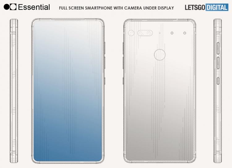 Патент: смартфон Essential PH-2 может получить камеру под экраном