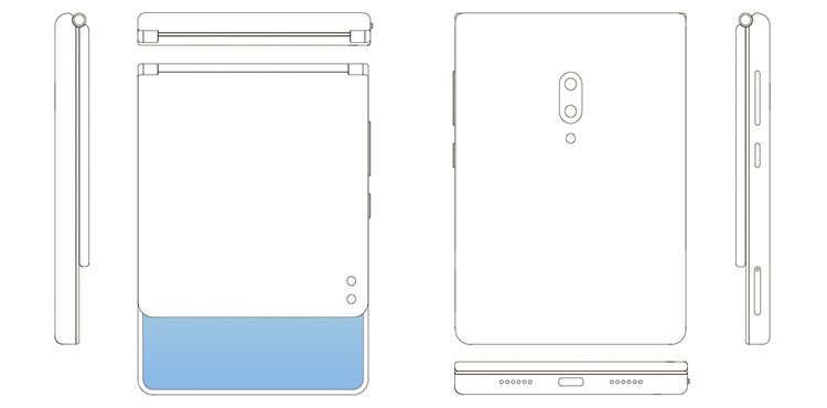 ZTE раздумывает над смартфоном с гибким экраном вертикального сложения