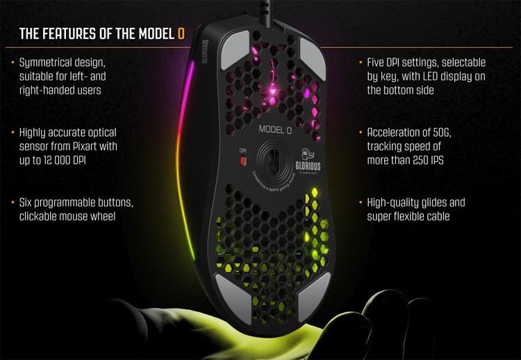 """Glorious PC Gaming Race Model O: игровая мышь с подсветкой и переключателями Omron"""""""
