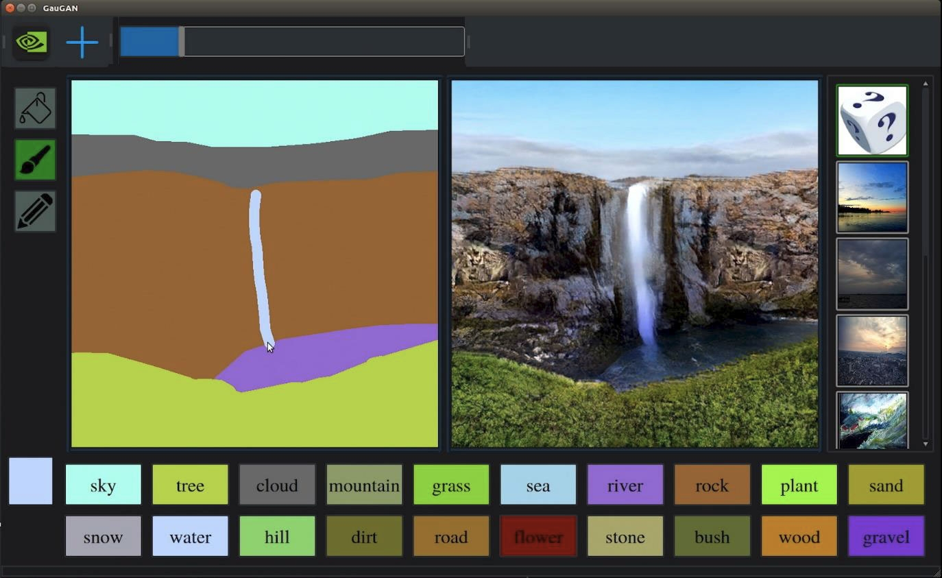 NVIDIA показала GauGAN— ИИ-систему, которая превращает небрежные наброски вфотореалистичные изображения