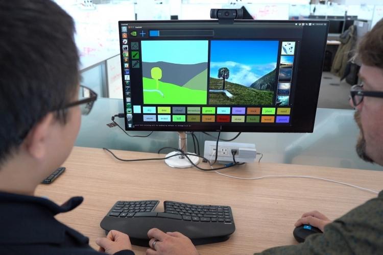 """Инструмент NVIDIA превращает простые зарисовки в картины при помощи ИИ"""""""