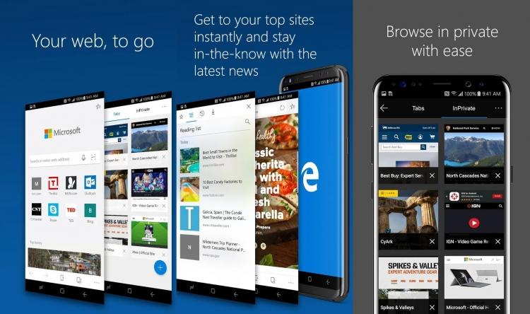 Мобильная версия Microsoft Edge получила бизнес-возможности