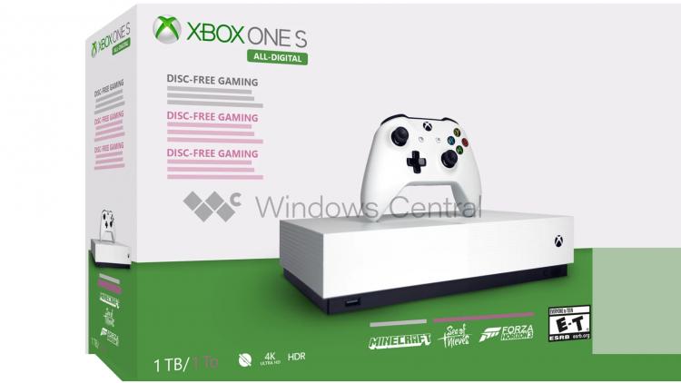 """Слухи: Xbox One S All-Digital без дисковода поступит в продажу 7 мая"""""""