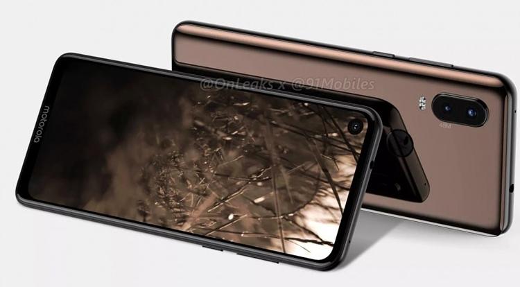 """3D-рендер подтверждает отверстие в экране Motorola One Visionдля камеры"""""""