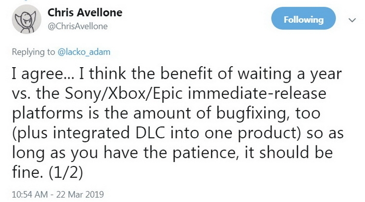 """Крис Авеллон о сделке авторов The Outer Worlds с Epic Games: «Лучший способ убить интерес к игре»"""""""
