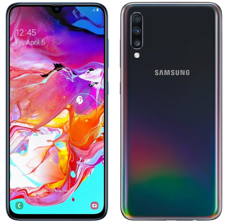"""Супербыстрая зарядка и четыре камеры: дебют смартфона Samsung Galaxy A70"""""""