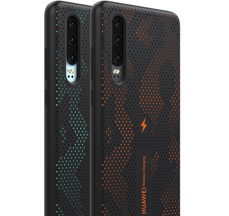 """Huawei выпустила чехол для беспроводной подзарядки флагманского смартфона P30"""""""