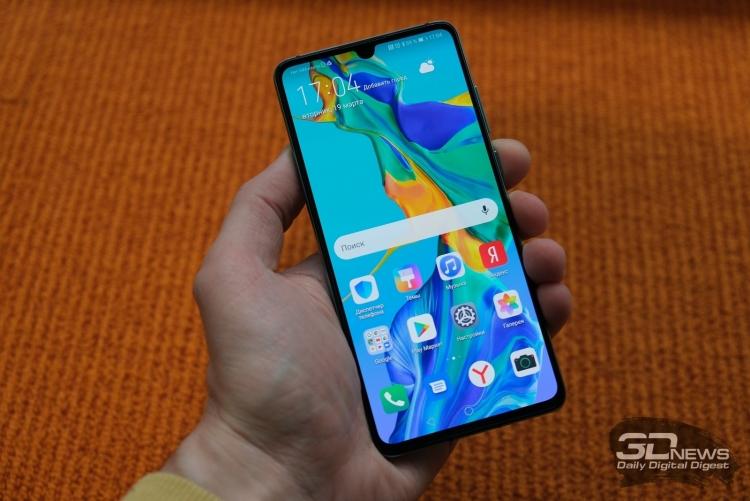 """В смартфоне Huawei P30 используется OLED-панель компании BOE вместо LG"""""""