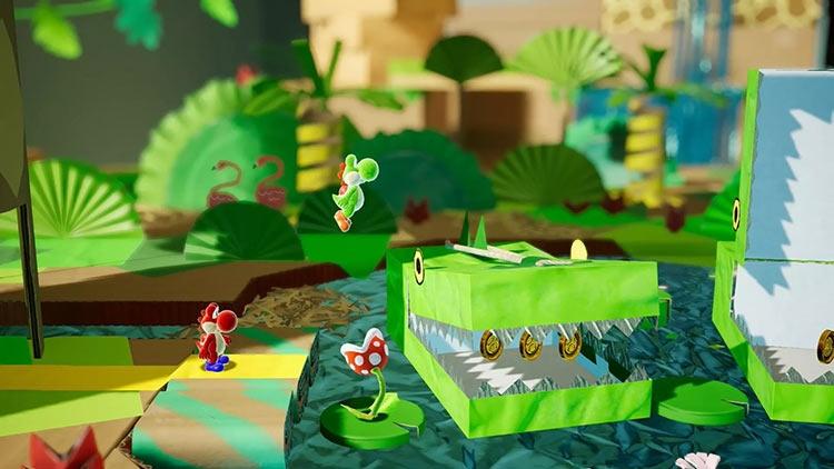 """Трейлер к запуску «картонного» платформера Yoshi's Crafted World на Nintendo Switch"""""""