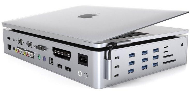 """Hyper представила самый большой многопортовый адаптер для MacBook на 40 разъёмов"""""""