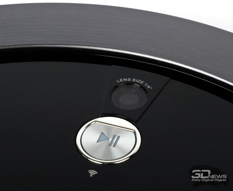 Камера и кнопка управления