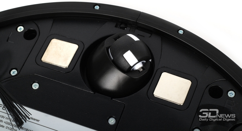 Переднее колесо и контактные площадки