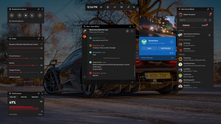 """В Game Bar для Windows 10 добавят чаты, Spotify и многое другое"""""""