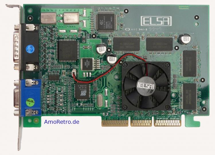 ELSA Erazor III Pro 32 ViVo (NVIDIA Riva TNT2 Pro) 32 Мбайт, AGP (AmoRetro.de)