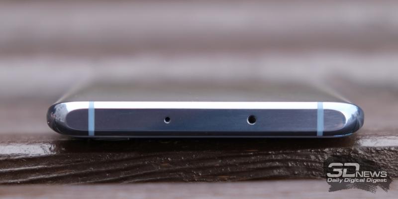 Huawei P30 Pro, верхняя грань: микрофон и ИК-датчик