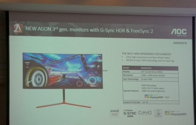 """200 Гц, FreeSync 2 и G-Sync HDR: монитор AOC Agon AG353UCG поступит в продажу летом"""""""
