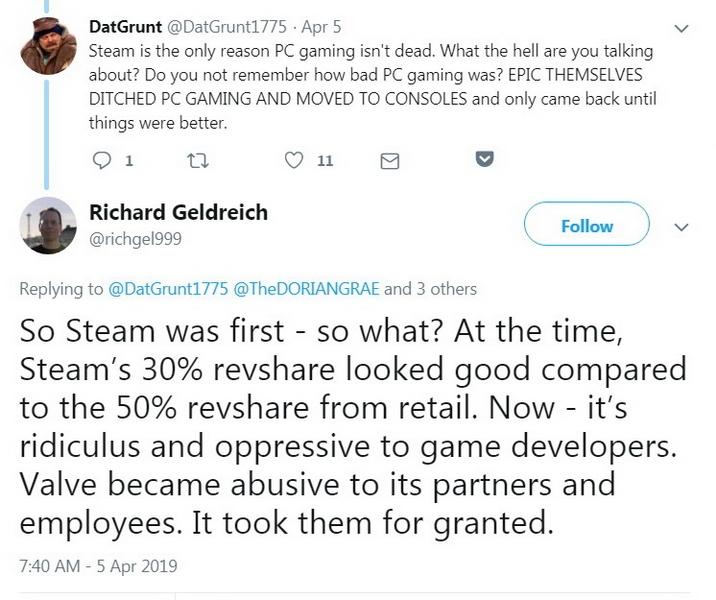 """Бывший сотрудник Valve: «Steam убивал индустрию PC-игр, и Epic Games это исправляет»"""""""