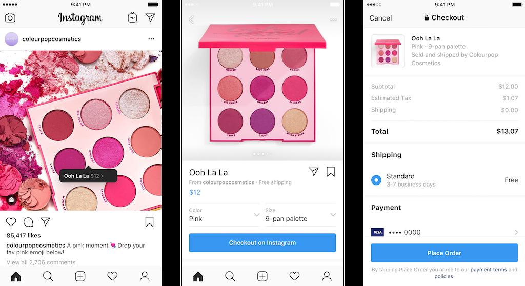 18 марта в Instagram появилась возможность совершать покупки для некоторых брендов