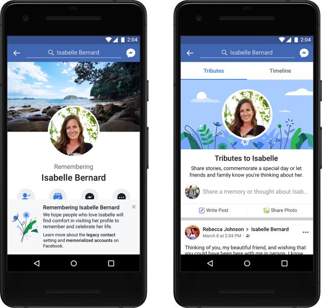 """ВFacebook расширили функциональность страниц умерших пользователей"""""""