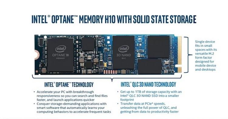 """Intel выпускает накопитель Optane H10, объединяющий 3D XPoint и флеш-память"""""""