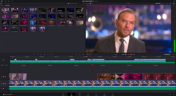 "Blackmagic представила бета-версию мощного пакета монтажа видео DaVinci Resolve 16"""
