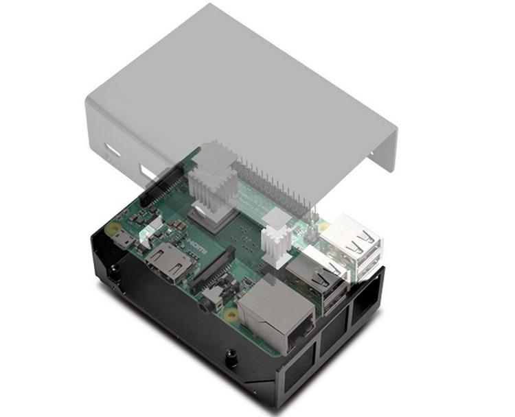 "SilverStone PI01: компактный металлический корпус для Raspberry Pi"""