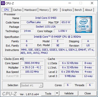 Обзор процессора Intel Core i5-9400F: ненастоящий Coffee Lake Refresh