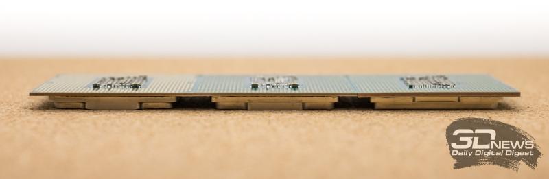 Слева направо: Core i5-8400, Core i5-9400F и Core i5-9600K