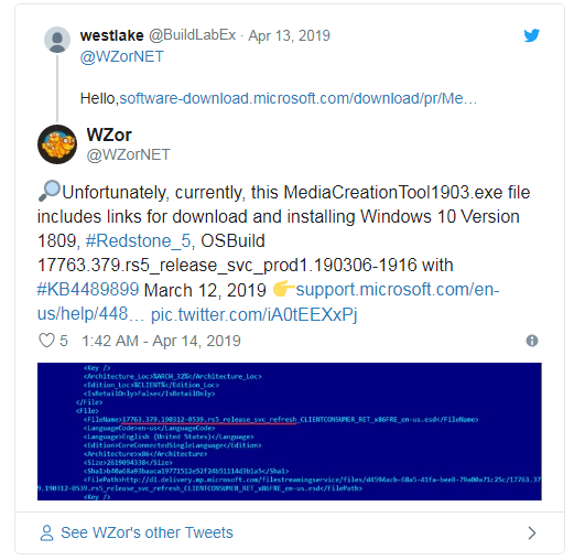 "УтилитаMediaCreationTool1903.exe не обновляет до Windows 10 May 2019"""