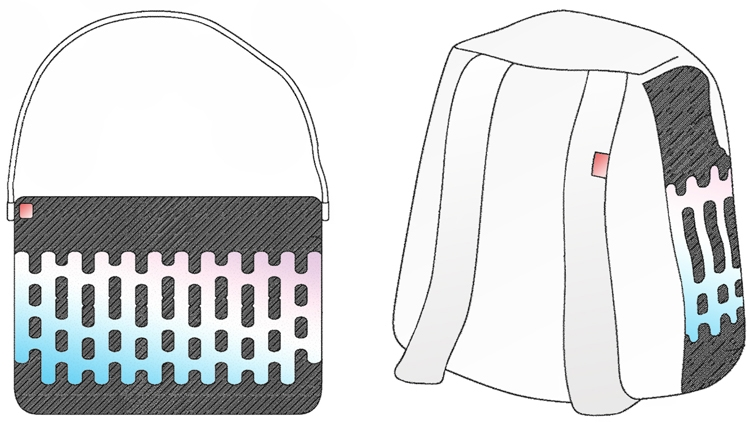 "Sony предлагает вшивать гибкие дисплеи в сумки и рюкзаки"""