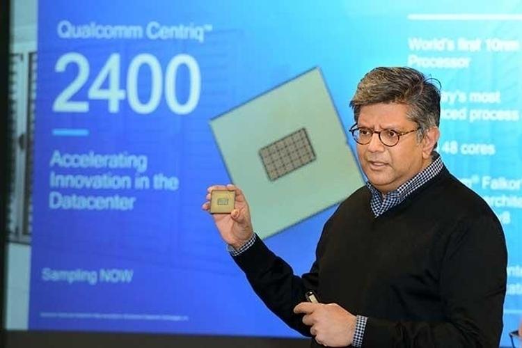 Ананд Чандразекхер демонстрирует 48-ядерный процессор Qualcomm Centriq 2400