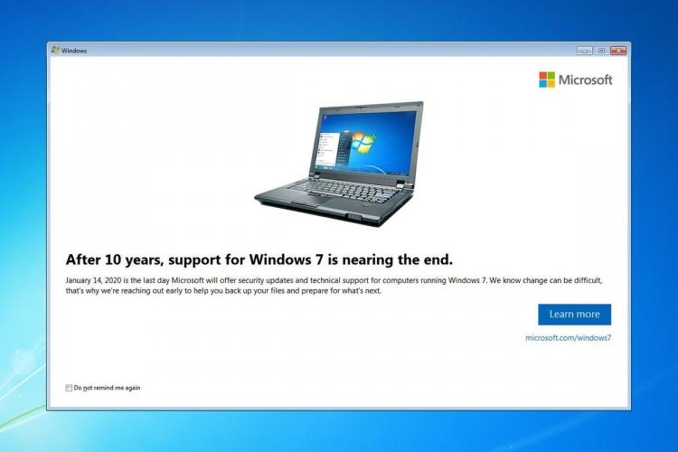 """Microsoft начала уведомлять пользователей о прекращении поддержкиWindows 7"""""""