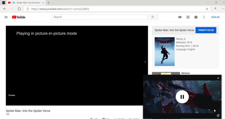 """ВGoogle Chrome и Microsoft Edge можно отключать звук в режиме«картинка в картинке»"""""""