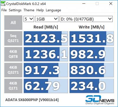 ADATA XPG SX6000 Pro 512 Гбайт