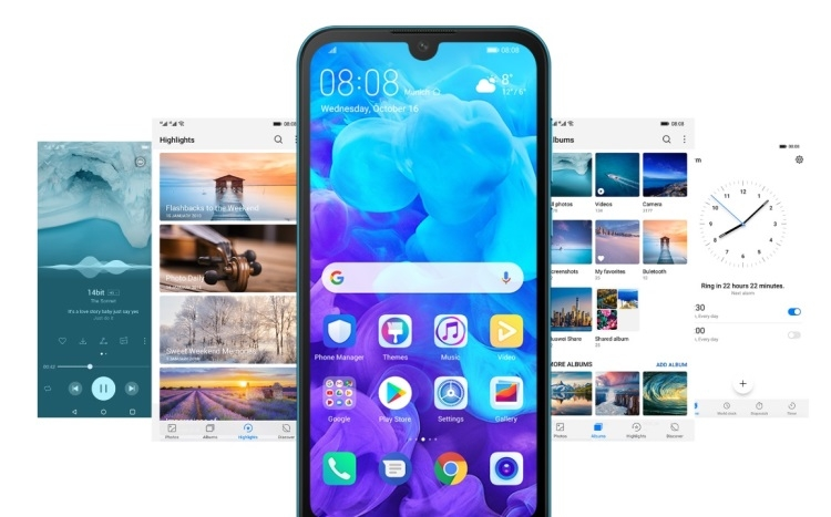 "Смартфон среднего уровня Huawei Y5 (2019) с чипом Helio A22 представлен официально"""