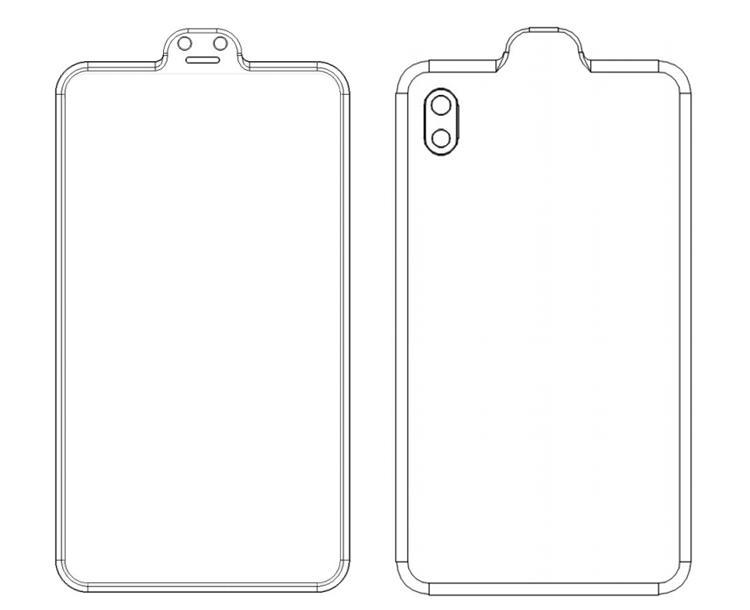 Xiaomi придумала смартфон с «вырезом наоборот»
