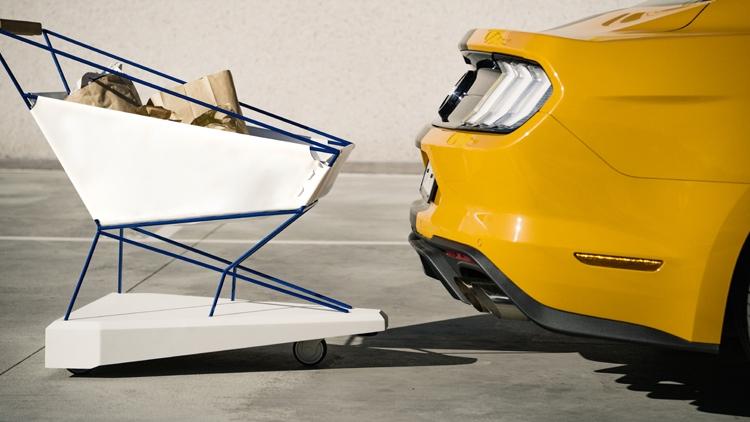 """Ford снабдила средствами автоматического торможения тележку для супермаркетов"""""""