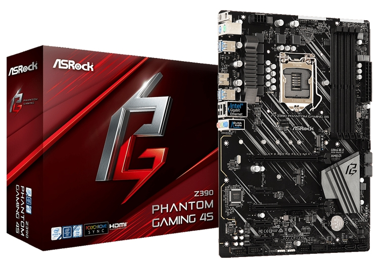 ASRock Z390 Phantom Gaming 4S: плата формата ATX для игрового ПК""
